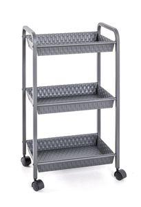 Haku Rollwagen, grau - Maße: 39 cm x 28 cm x 72 cm; 21101