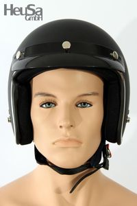 Jethelm Motorradhelm schwarz matt Gr. XL