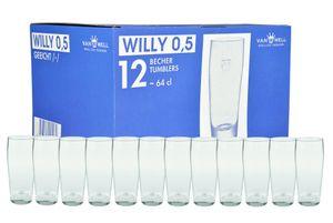 12er Set Bierglas Willibecher 0,5l geeicht Biergläser Tumbler perfekt geeignet für Gastronomie