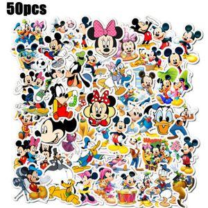 50 Stück Mickey Mouse Aufkleber Kartoon Cartoon Stickers Vinyl Aufkleber Kinder Cartoons Stickerbomb Haus Dekoration