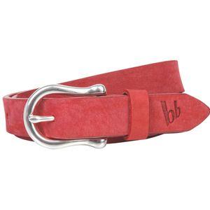 Bruno Banani Ledergürtel Damen / Gürtel Damen, Vollrind-Leder, Nubukleder rot, Größe / Size:105, Farbe / Color:rot