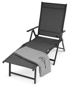 di volio BOLZANO Sonnenliege aus Aluminium – bequeme Gartenliege für Garten oder Terrasse klappbar, Rückenlehne in 7 Positionen verstellbar