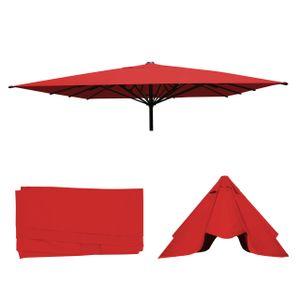 Bezug für Gastronomie Sonnenschirm HWC-D20, Sonnenschirmbezug Ersatzbezug, 5x5m (Ø7,2m) Polyester  rot