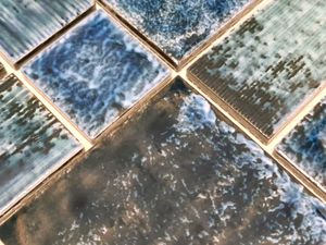 Mosaikfliese Keramik Mosaik Kombi grün glänzend Bad Kücehnrückwand MOS13-KAS4_m