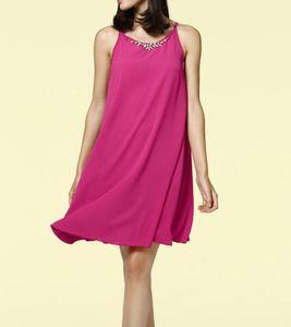 RICK CARDONA Damen Designer-Kleid m. Kette, pink, Größe:42