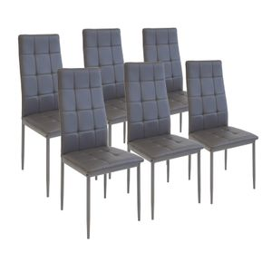 Esszimmerstühle RIMINI, 6-er SET, Grau