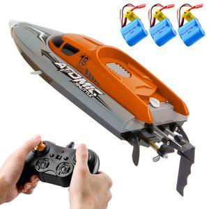 RC-Boot Fernbedienungsboot 30 km / h Hochgeschwindigkeits-IPV7 Wasserdichtes 2,4-GHz-4-Kanal-Rennboot f°îr Kinder Erwachsene