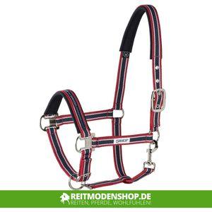 ESKADRON Halfter Classic Sport mit Dornschnalle, red-white-navy, Pony
