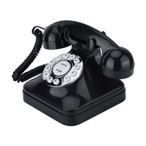 Mllaid Retro-Telefon,WX-3011 Vintage-Retro-Telefone Einleitungsbetrieb mit Multifunktion Traditioneller Klingelton,Kunststoff-Heimtelefon Retro-Draht-Festnetztelefon
