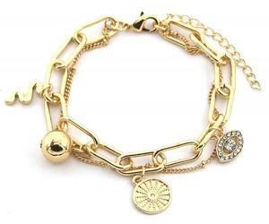 gliederarmband Sophie damen 18-22 cm edelstahl gold
