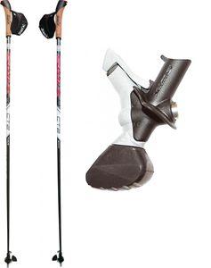 Nordic Walking Stöcke SWIX CT2 Twist und Go Spitze Klick Schlaufe 100% Carbon 110cm