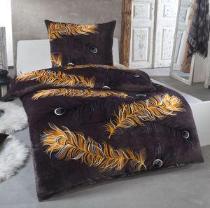 Malika® Kuschelige Winter Plüsch Bettwäsche Cashmere-Touch  mit Kissenbezug 80x80 wärmer als BIBER oder Flanell, Größe:135x200 + 80x80, Design - Motiv:Design 2