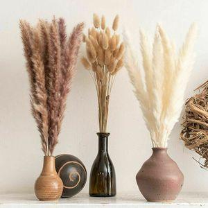 40 Stück Pampasgras, Natürliche Getrocknete Blumen DIY Pampasgras Phragmiten Home Party Deko