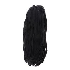 1 Rolle Baumwolle Flach Kordelzug Drawstrings für Hosen Kleidung Dekor Schwarz wie beschrieben