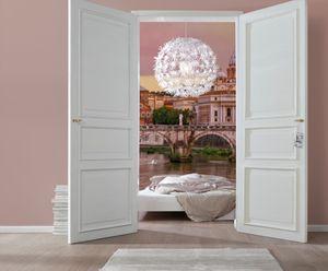 """Komar Fototapete """"Rome"""", rosé/beige/grün, 368 x 254 cm"""