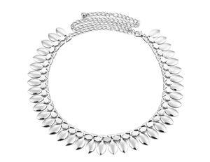 Damen Damen Quasten Silber Metall Taille Kette Gürtel Bauchtanz Gürtel