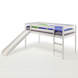 Spielbett BENNY mit Rutsche in weiß