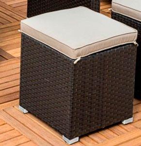 Merxx Salerno Hocker - Farbe: braun/ beige -  Maße: 40 x 40 x 38  cm; 28436-210