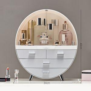 Meco Kosmetikbox Kosmetik organizer Make up Beauty Schmuck Aufbewahrung Koffrer Lippenstifthalter Grau 34cm