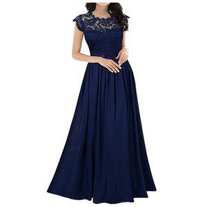 Chiffon Kleid Chiffon Nähte Spitze Kleid Brautjungfern Abendkleider Frauen Größe:M,Farbe:Navy