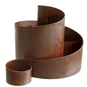 Kräuterspirale Eisen - Natur Rost - ca. 58,5 x 43 x 41 cm
