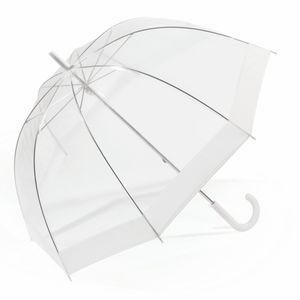 Regenschirm Transparent Stockschirm Glockenschirm Kuppelregenschirm Handöffnung