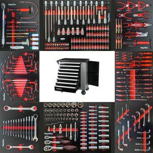 XXL Premium Werkzeugwagen mit 8 Schubladen inkl. Werkzeug