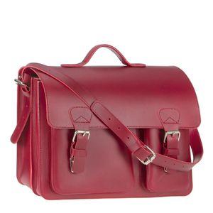 Ruitertassen Lehrertasche Leder Damen Herren Schultasche 40cm Aktentasche 2 Fächer rot 2137-15