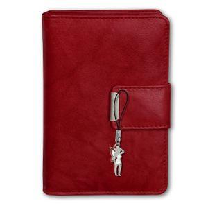 Money Maker Echtleder Damen Portemonnaie RFID Schutz rot 9x3x13 Börse OPJ701R