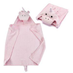 Kapuzenhandtuch - Einhorn Baby Handtuch mit Kapuze - Pferd Badeponcho Kinder Poncho aus Frottee