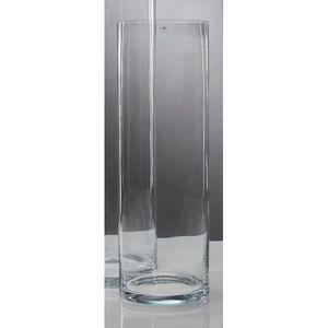 XXL Bodenvase Cylindrical Glasvase Dekoglas H. 90cm D. 25cm rund Sandra Rich