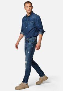 Mavi Herren JAMES Herren Skinny Fit Jeans Hose indigo ripped mavi black W27/L32