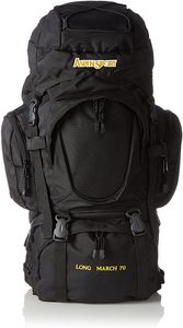 AspenSport - Trekking Rucksack | LONG MARCH 70 | 75 x 35 x 25 cm | Schwarz