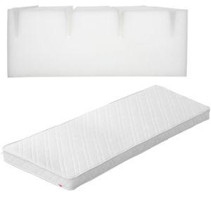 Schaumstoffmatratze mit weißem Bezug 70x160cm