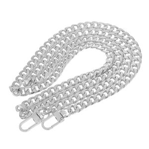 Ersatz Kettenriemen Geldbeutel Handtaschen Griff für Schulter Beutel Ketten Silber 120cm Umhängetasche Kette Gurt / Griff