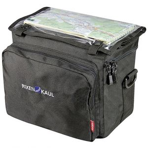 Lenker-Tasche KLICKfix Daypack Box schwarz, 26x22x16cm, ohne Lenkeradapter