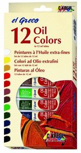 KREUL Ölfarbe el Greco, 12 ml, 12er-Set, Menge 1