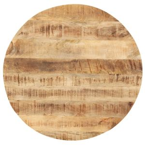 vidaXL Tischplatte Massivholz Mango Rund 25-27 mm 40 cm