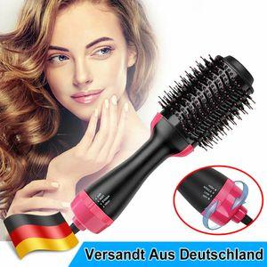 Warmluftbürste 4in1 Lockenstab Fönbürste Lockenwickler Haarpflege Lockenstyler