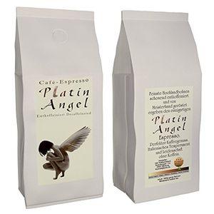 """Espresso / Cafe - Kaffeebohnen Entkoffeiniert """"Platin Angel"""" (Ganze Bohnen,1000 g)"""