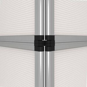 vidaXL 12-Panel Messewand Faltdisplay 242×200 cm Weiß