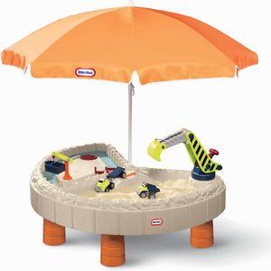 Little Tikes Sand- und Spieltisch Baustelle, inkl. Schirm