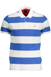Gant Herren Poloshirt gestreift Contrast Barstripe Pique, Größe:M, Farbe:Weiss-Blau(113)