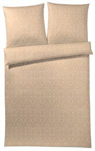 Elegante Honeymoon-Jersey Bettwäsche Garnitur Mode Rubicon, Apricot 155 x 220 + 80 x 80 cm
