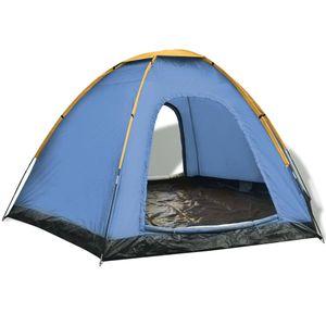 6-Personen-Zelt Blau und Gelb