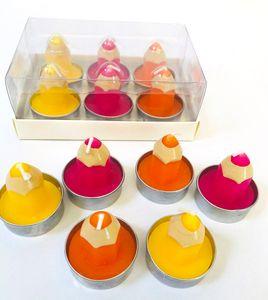 DeCoArt... SET 6 Deko Schulanfang Kerze Teelicht Buntstift Schuleinführung Einschulung bunt 5 x 4 cm