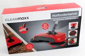 CLEANmaxx Bodenkehrer mit 3 rotierenden Bürsten, intgrierter Auffangbehälter inkl. Schaber - aus der TV-Werbung