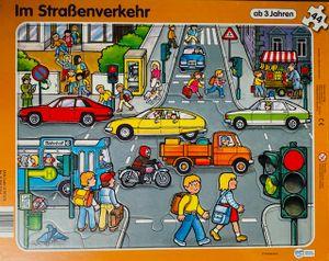 Rahmenpuzzle 2er Pack, Baustelle / Im Staßenverkehr 35/44 Teile