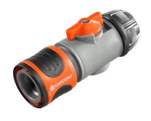 GARDENA 094-250 Regulierstop 13mm(1/2') EAN für 13mm-Schläuche, schwarz/grau/orange (1 Stück)