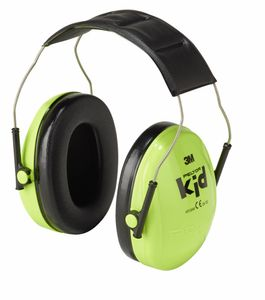 3M™ Peltor™ Kapselgehörschützer für Kinder, neongrün, SNR = 27 dB